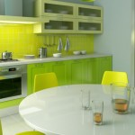 Modern Minimalist Green Kitchen Paint Color