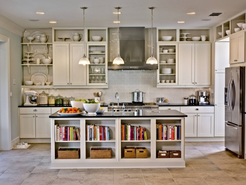 Modern Minimalist Home Kitchen Shelves Idea