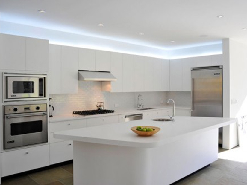 Modern Minimalist White Kitchen Design Picture