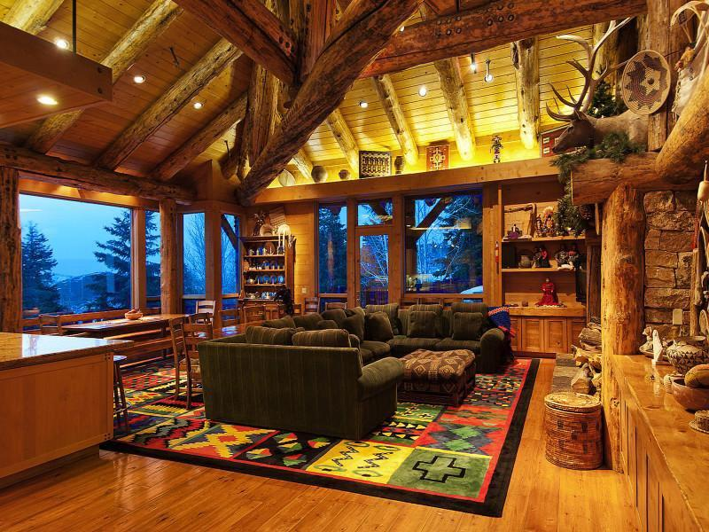 Modern Perfect Wooden Family Room Idea