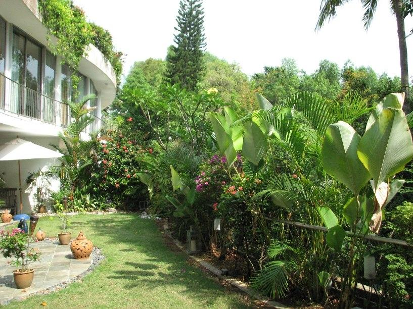 Small Tropical Theme Home Garden Design | 4 Home Ideas on exotic garden design, hawaii garden design, tropical garden landscape design, tropical and flower garden ideas,