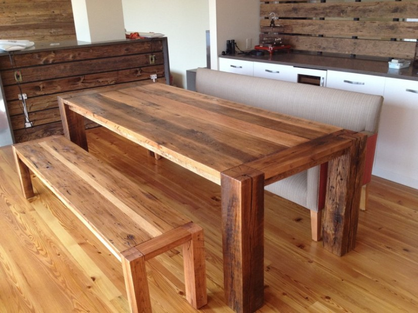 Modern Wooden Dining Table Design Picture