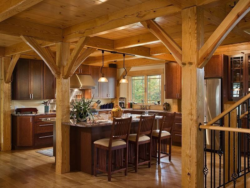 Modern Wooden Home Kitchen Decoration Photo