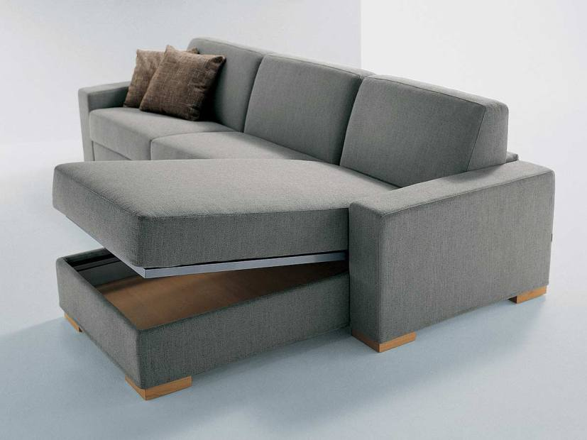 Multifungtional Minimalist Sofa With Gray Color