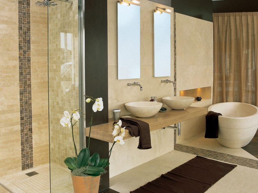 Natural Decor Idea For Modern Bathroom