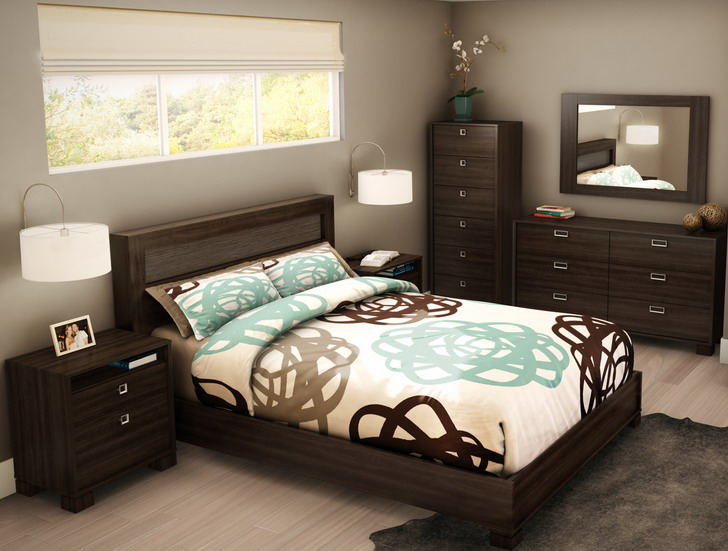 Nice Modern Style Wooden Furniture Cool Bedroom Color Ideas Men ...