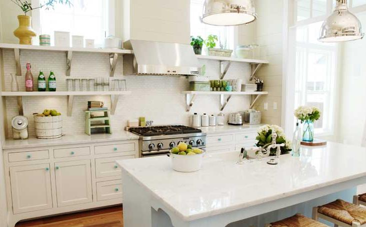 Open Kitchen Shelves Decor Idea Image