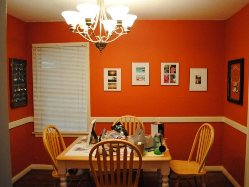 Orang Paint Color For Dining Room