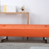 Minimalist Living Room Furniture Grey Rug Bright Orange Sleeper Sofa