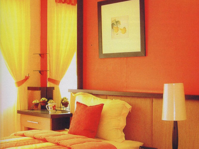 Orange Paint Color For Living Room
