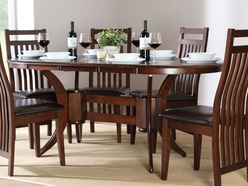 Modern wood dining room table models 4 home ideas for Wood dining table decor