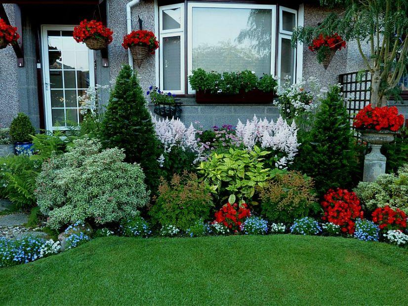 ... Garden Design With Minimalist Beautiful Home Garden Model Home Ideas  With Flower Landscape Pictures From Desainminimalis