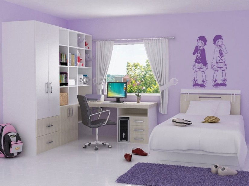 Pretty Bedroom Decor Idea For Girls