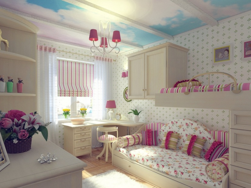 Prety Girls Bedroom Decoration Idea Picture