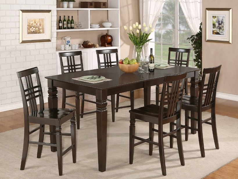 Rectangular Shape Wooden Dining Table Set