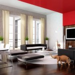 Red And White Furniture For Living Room