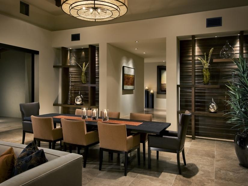 Romantic Black Home Dining Room Table