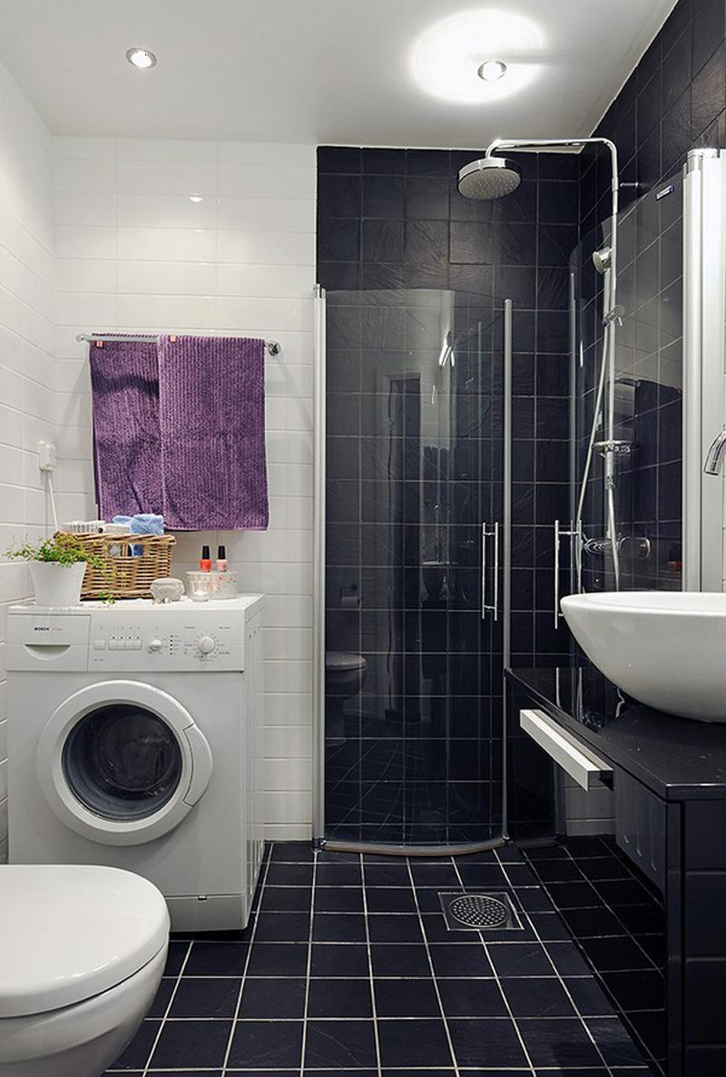 Simple Black And White Bathroom Color