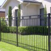 Simple Black Iron Fence Design Image