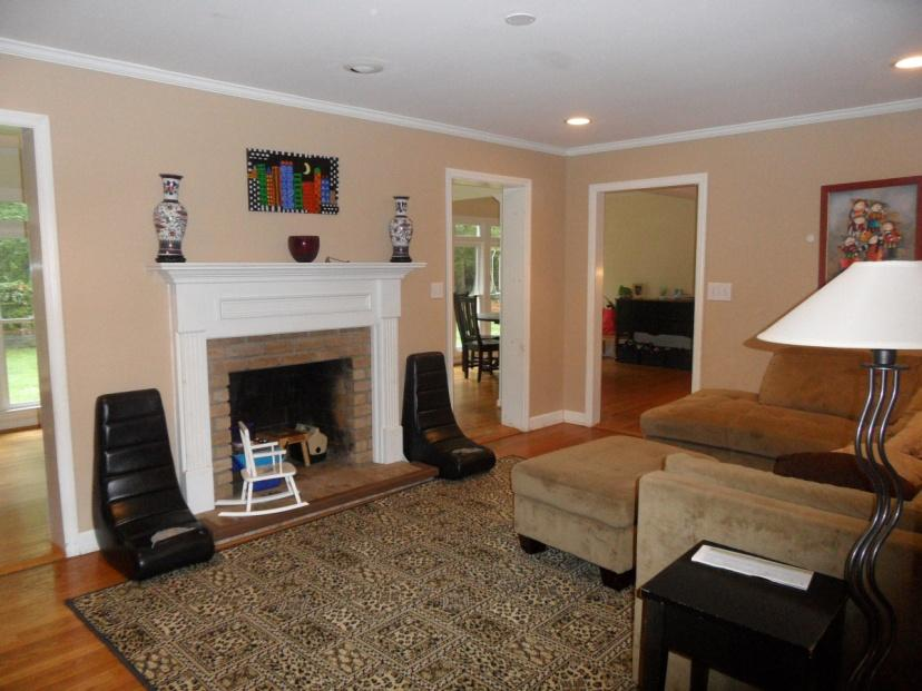 Simple Family Room Chairs Design Photo