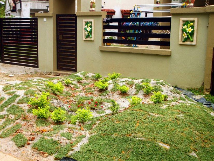 Minimalist front home garden design 4 home ideas for Garden design for house