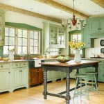 Simple Green Kitchen Design Images