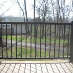 Simple Iron Fence Design At Modern Home