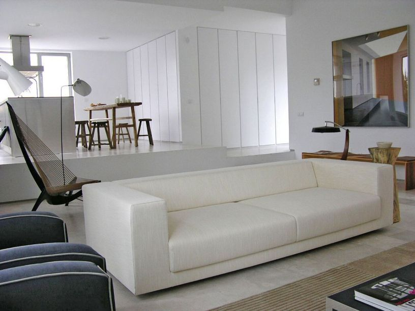 Simple Living Room Sofa With White Color