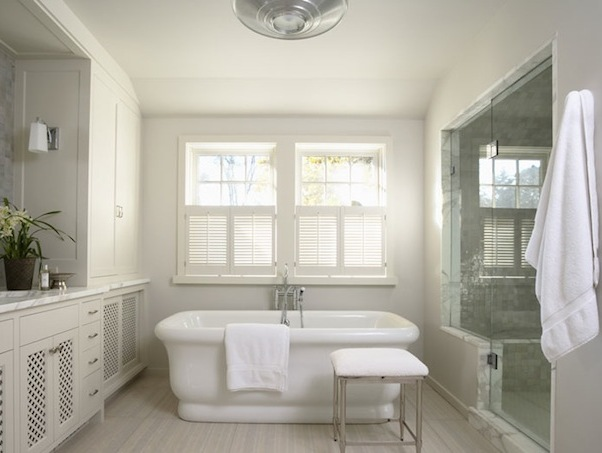 Simple Minimalist Gray Bathroom Paint Idea