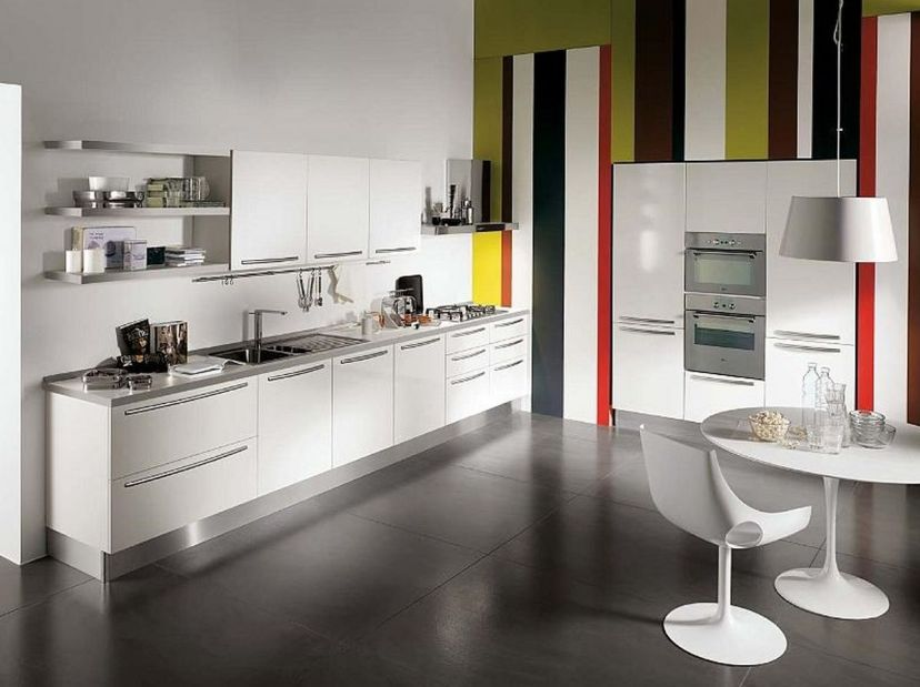 Simple Minimalist Home Kitchen Design Photo