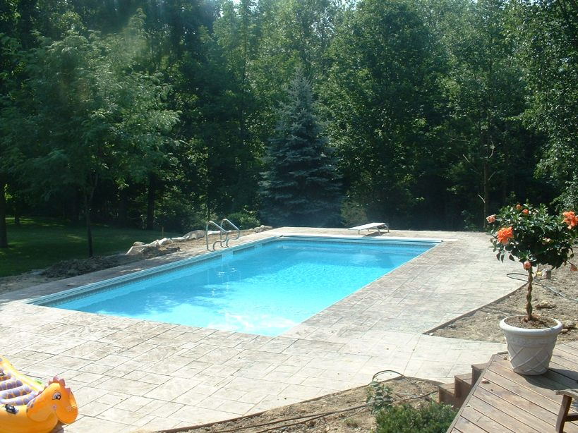 Simple Rectangular Home Swimming Pool Shape
