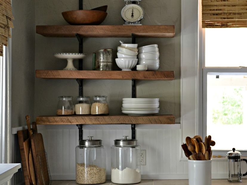 Simple Shelves Design For Minimalist Kitchen