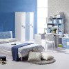 Sky Blue Color In Minimalist Bedroom