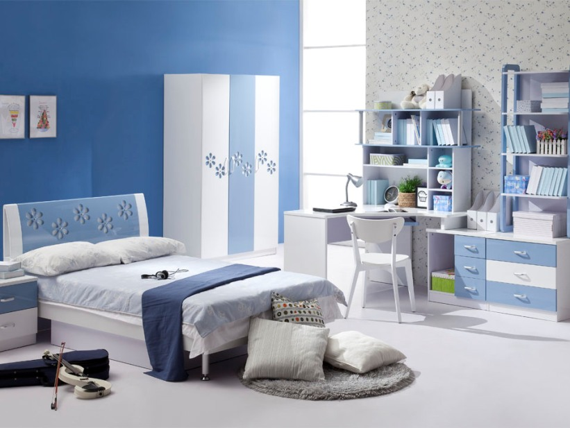 Sky Blue Color In Minimalist Bedroom. Sky Blue Color In Minimalist Bedroom   4 Home Ideas