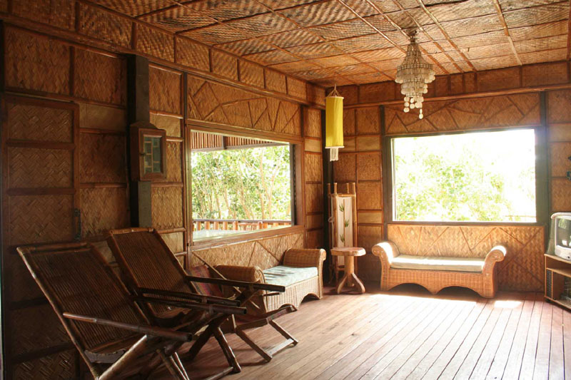 Small Bamboo House Interior Design Idea - 4 Home Ideas
