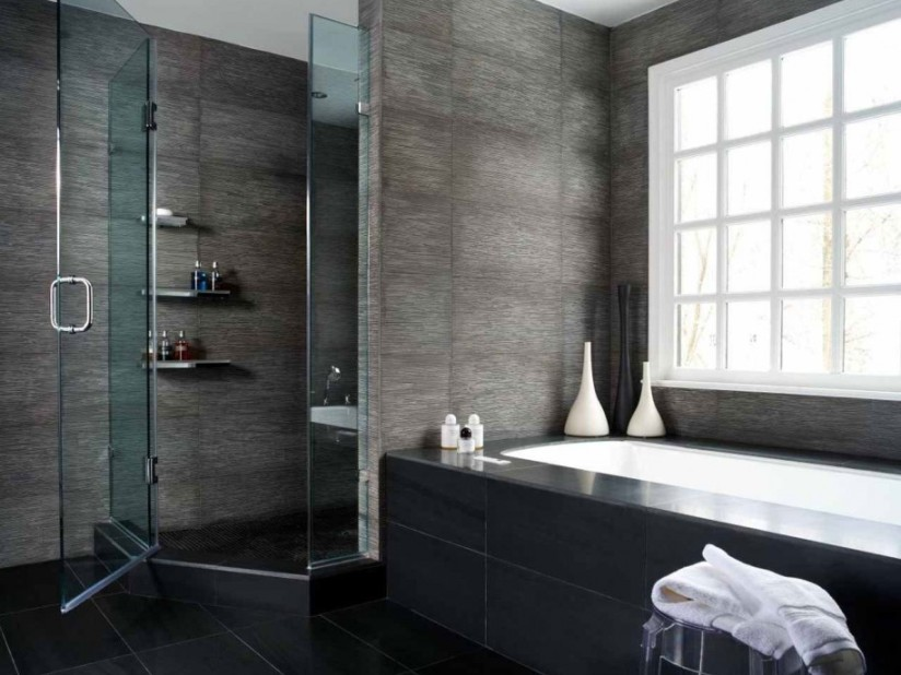 Small Bathroom Design With Dark Color