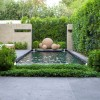 Small Garden Design With Minimalist Pond