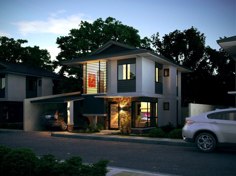 Minimalist 2 Storey Home Design Idea Pictures