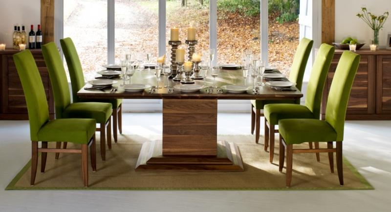 Square Shape Wood Dining Table Design