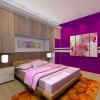Sweet Purple Color In Main Bedroom