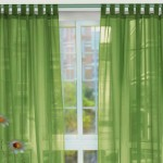 Transparant Green Window Curtain Design Idea