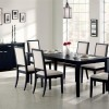 White And Black Dining Table Color