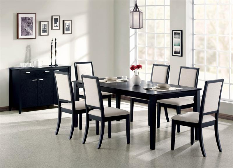 White And Black Dining Table Color : black dinner table set - pezcame.com
