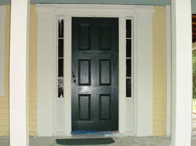 White And Green Color For Door