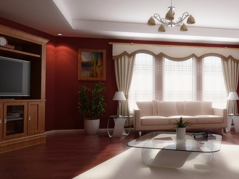 White And Red Living Room Color