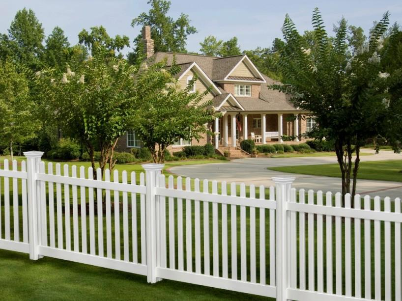 White Fence Design For Minimalist Home