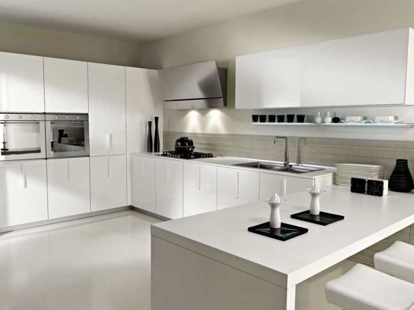 White Paint Idea For Modern Kitchen