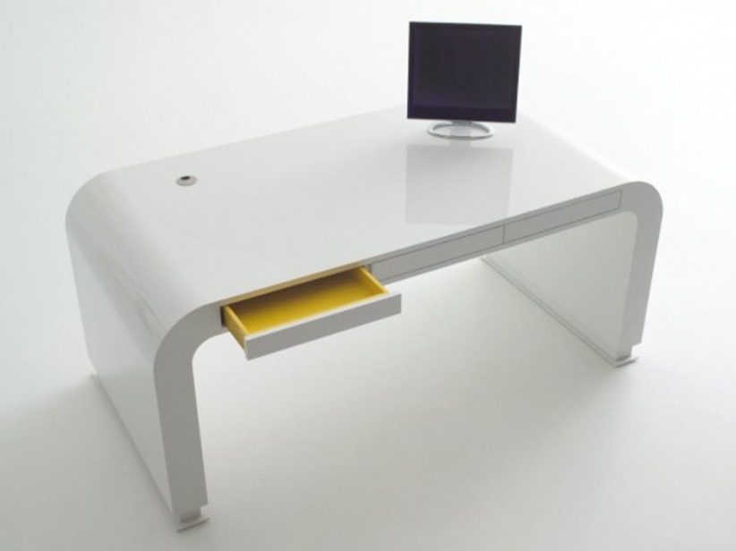 White Table Design For Home Office