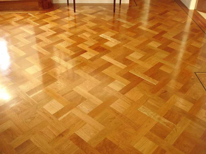 Wood Floor Pattern In Minimalist Home