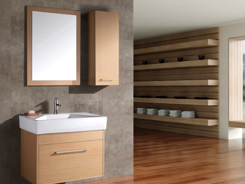 Wooden Cabinet Design For Modern Bathroom